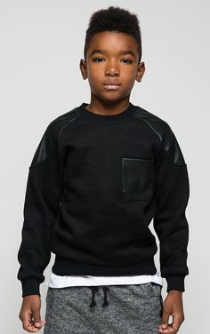 Details Ha– we aren't sweatin' the small stuff. This Patchwerk Leather Pullover sweatshirt comes in black and features a round neckline, relaxed sweatshirt silhouette, and leather patch detail. Kill t