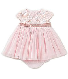 Rare Editions Baby Girls 324 Months Floral Lace Bodice Ballerina Dress #Dillards