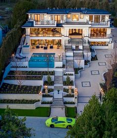 Dream House Exterior, Dream House Plans, Dream Home Design, Modern House Design, Villa Interior, Mansion Interior, Interior Modern, Kitchen Interior, Casas The Sims 4