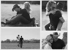 Faith Hill and Tim Mcgraw. They're so cute together.