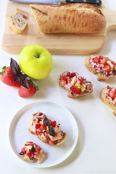 Summer Strawberry Bruschetta by www.cookingwithruthie.com is the ...