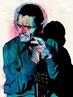 Chet Baker- ooozing cool  Portraits : Alvaro Tapia Hidalgo