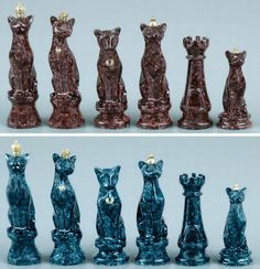 Unique Chess Pieces | Cat themed chess pieces :) | Unusual Chess Boards