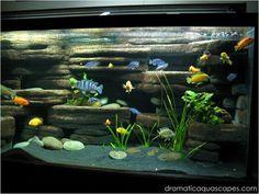 DIY Aquarium Background - Rock Ledges