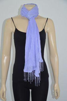 Laila Rowe Purple Beaded Women Shawl/Wrap Size Large Made in India On Sale. #LailaRowe #ShawlWrap