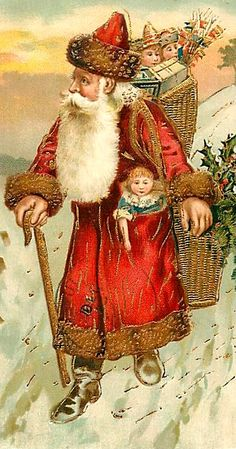 Santa Claus, St. Nick, Father Time, Christmas