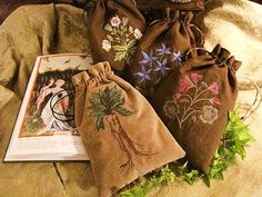 Earth Witch:  #Earth #Witch ~ Herbal Bags, by Medieval Muse.