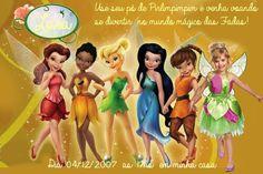 Convite digital personalizado Fadas Disney com foto 028