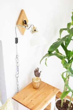 DIY IKEA Hack Geometric Wall Sconces | Lovely Indeed