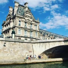 Blue skies, bridges, and historic buildings like the Louvre all from the seine river is a very pleasant way to spend and hour. Travel Photos, Travel Tips, In Plan, European Destination, Blue Skies, Travel Couple, Bridges, Paris France, Blue Sapphire