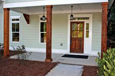 Front porch columns home depot vinyl porch posts on home columns superior vinyl porch posts series . front porch columns home House Colors, Front Porch Columns, House, Front Porch Posts, Farmhouse Front Porches, Porch Kits, Wood Columns, Building A Porch, Porch Design