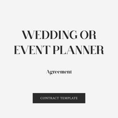 Sample contract agreement simple contract templates business wedding or event planner contract template accmission Gallery