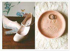 Miu Miu pale pink and sparkle wedding shoes