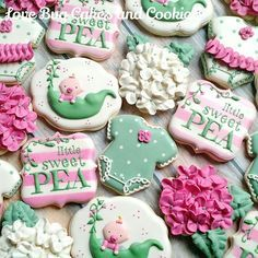 Image result for images of flower airplane  sugar cookies baby girl shower