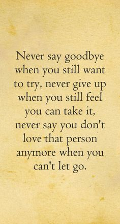 How to let go even when you dont want to