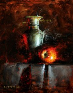 David Cheifetz, 1981 ~ American Still Life painter Still Life Drawing, Painting Still Life, Cristal Art, Still Life Artists, Apple Art, Painting Competition, Academic Art, Wine Art, Realistic Paintings