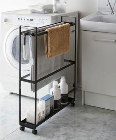 Laundry Room Inspiration, Storage Cart, Laundry Room Design, Bathroom Furniture, Interior Design Living Room, Towel, House Design, Decoration, Home Decor