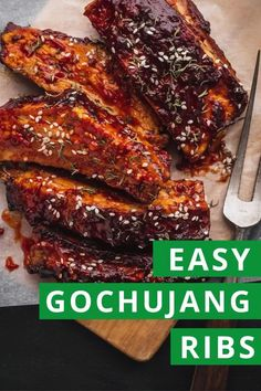 Korean gochujang ribs is a spicy twist on a classic favourite. So easy to make as barbecued ribs, in the oven or slow cooker. #ribs #spicy #gochujang #Keto #korean Barbecued Ribs, Magic Recipe, International Recipes, Original Recipe, Slow Cooker, Spicy, Bacon, Oven, Pork