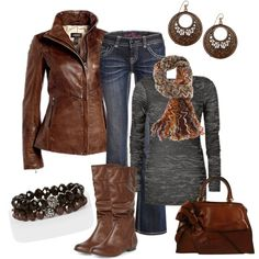"""""""Chocolate Leather"""" by smores1165 on Polyvore"""