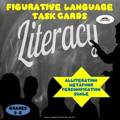 Use+these+108+multiple+choice+figurative+language+task+cards+--+alliteration,+metaphor,+personification,+and+simile+as+a+great+way+to+ensure+student+mastery.+These+task+cards+are+perfect+for+test+prep+and+will+work+well+at+literacy+centers,+stations,+for+partner+work,+small+or+whole+group+instruction.