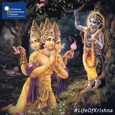 Once Lord Bramha decided to test Krishna. Later, he begged forgiveness for his mistake of trying to test Krishna.