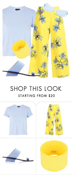 """Yellow/Blue"" by foldym-sd ❤ liked on Polyvore featuring Topshop, VIVETTA, Abcense, Dsquared2 and Forever 21"