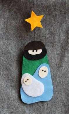 Weihnachtskrippe aus Filz {Freebie} | kugelig.com