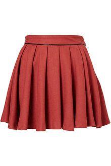 8be214271 Oasis Full Maya Skirt in Red   Lyst Box Pleats, Women's Skirts, Mini Skirts