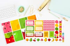 Yummy Kawaii Fruit Planner Stickers by TheCleverDesign on Etsy
