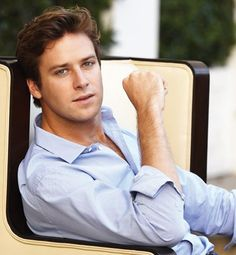 Armie Hammer is who my brain thinks Christian Grey is..drool
