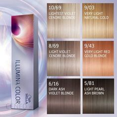 Wella illumina color-mini color palette # colors # pales - All For Hair Color Trending Shades Of Brunette, Blonde Hair Colour Shades, Short Brunette Hair, Pale Blonde, Hair Color Shades, Hair Colors, Wella Illumina Color, Hair Color Swatches, Brunette With Lowlights