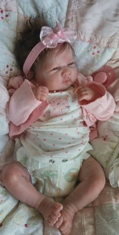 Beautiful baby girl ! Reborn Berenguer la newborn doll preemie   Soft Doe Body