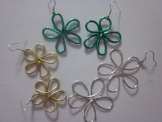 Decorate yourself: Video tutorial of earrings in flower shape, very simple.