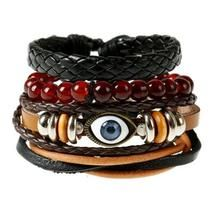 Leather Braceletes for Women Fashion Trendy Punk Weave Wrap Strand Women anchor Genuine Leather Bracelets /Set Men Cuff Jewelry Accessories Wholesale Beaded Wrap Bracelets, Handmade Bracelets, Bracelets For Men, Bangle Bracelets, Leather Bracelets, Handmade Jewelry, Antique Bracelets, Anchor Bracelets, Vintage Bracelet