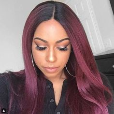#repost @ifancycupcakes for the win!!Specs: Boutique Bundles Kinky Straight Lace Wig Color: T1B/Burgundy (Hair Item: SENSATIONNEL SYNTHETIC LACE FRONT WIG EMPRESS EDGE BOUTIQUE BUNDLES 3-WAY FREE PART LACE WIG KINKY #love_samsbeauty #outre_hair #styleguide #wig #lacewig #lacefrontwig #hair #protectivestyles #blackgirlhair #naturalhaircommunity #urbanhairpost #blackgirlmagic #hairinspiration #beauty #trend