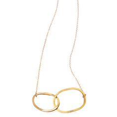 Double Oval Necklace now featured on Fab.