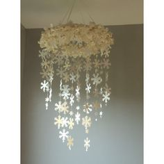 Large Snowflake Mobile by Southern Pearl Designs - modern - mobiles - Etsy