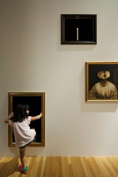 In an attempt to better engage the youngest visitors to the Museum of Contemporary Art in Tokyo, Torafu Architects created a special art gallery just for kids called Haunted House. On entering the exhibition a few familiar artworks appear hung in frames around a large white cube, but something is clearly amiss as everything appears to be moving... http://torafu.com/works/hauntedhouse