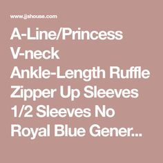 A-Line/Princess V-neck Ankle-Length Ruffle Zipper Up Sleeves 1/2 Sleeves No Royal Blue General Plus Jersey Height:5.7ft Bust:34in Waist:25in Hips:36in US 4 / UK 8 / EU 34 Mother of the Bride Dress, JJsHouse.com Valentines For Daughter, Ruffle Beading, Junior Bridesmaid Dresses, Lovely Dresses, Wedding Party Dresses, Special Occasion Dresses, Ankle Length, Mother Of The Bride, Chiffon