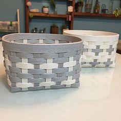Paper Basket, Laundry Basket, Basket Weaving, Wicker Baskets, Handicraft, Handmade, Crafts, Home Decor, Sewing