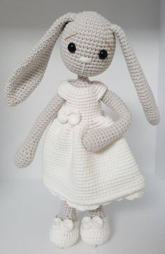 crochet pattern amigurumi mom and baby bunny