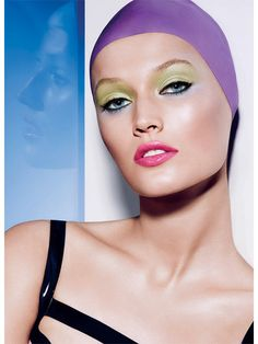 The Best Summer 2014 Beauty Campaigns: German-born model Toni Garrn in Nars Summer 2014 'Adult Swim' Color Collection