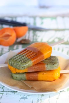 The Spunky Coconut: Kiwi Apricot & Mango Pops
