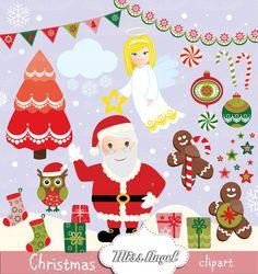 Santa Claus Christmas CLIPART 21 Digital by MissAngelClipArt