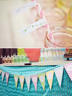 Bunting Printables by Paiges of Style ~ Also LOTS of ideas of a perfect Birthday party!