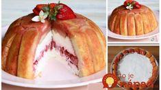 Jahodová rýchlovka z misky, aj pre úplných začiatočníkov: Stačí len vyklopiť a máte takýto krásny dezert!