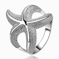 Starfish Silver Ring
