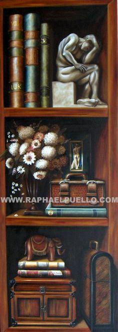 LIWWW.RAPHAELPUELLO.COM/OLEO/NATURALEZAS MUERTAS/ANAQUELESBRERO CON FLORES.