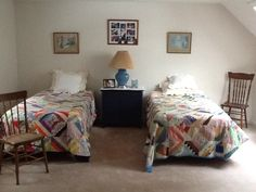 The second upstairs bedroom has lots of room too with double closet.
