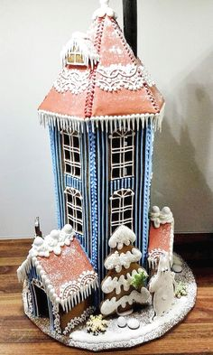 Gingerbread Moomin House built by Taru Lehtinen, contestant in the Turkulainen newspaper's gingerbread house competition. Finland